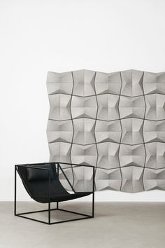 Australian design, Australian made. Introducing Ecoustic Pinch, our latest acoustic wall tile with crisp sculptural topography. Styled with Hegi Designhouse's Eike Chair, photography Fiona Susanto. Acoustic Wall, Acoustic Panels, Chair Photography, Wall Tiles, Crisp, Ceiling, Sculpture, Design, Style