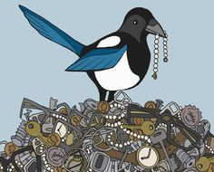 Someone's idea for a Magpie tattoo. It's quite appropriate, I think.