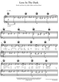 Love In The Dark Adele >>> KLICK auf die Noten um Reinzuhören <<<