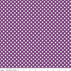 Riley Blake Small Dots fabric in Purple C350125   by WhimsyQuilts