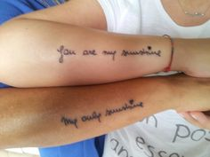 Last tattoo. Me and my mom. ♥