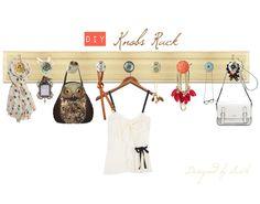 My design for a rack using knobs #knobs #rack #anthropologie #diy