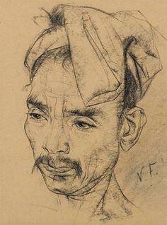 Nicolai Fechin, Portrait of a man