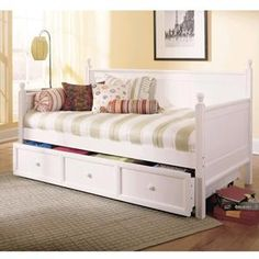 Daybed With Trundle in White | Nebraska Furniture Mart