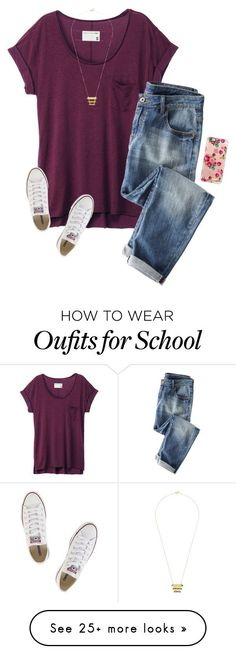 We get to go to a play today at school!☺️ by savanahe on Polyvore featuring rag bone, Wrap, Casetify, Converse and Gorjana