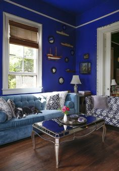 The Beautifully Strange World of Miranda Lake Living room- Walls, Decathalon, Ralph Lauren Paints at Home Depot.