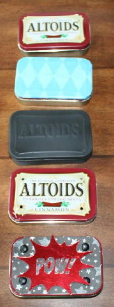 Altered Altoids Tin with Template