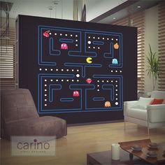 Large Pacman wall sticker pac man sticker by CarinoVinylDesigns