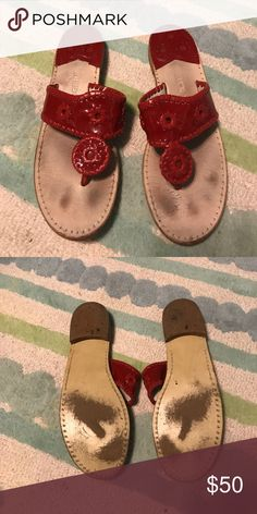 Jack Roger Sandals In good condition! Great deal!! Jack Rogers Shoes Sandals