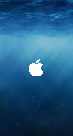 Underwater apple logo