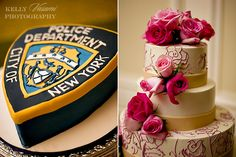 groom's cake (NYPD) and wedding cake except in our case it'll be state trooper ejh (;