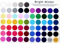 See your winter color palette, see what colors fit you best...