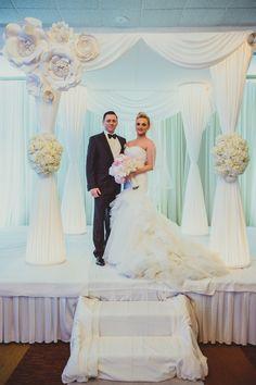 Gorgeous White Chuppah (Huppah) at Modern Jewish Wedding {IQphoto} - mazelmoments.com