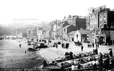Photo of Scarborough, Foreshore Road 1890 Yorkshire England, North Yorkshire, Old Pictures, Old Photos, Vintage Pictures, Scarborough Castle, Northern England, Train Journey, 11th Century