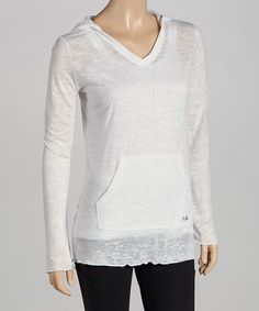 Take a look at this White Hooded Burnout Tee by FILA on #zulily today!