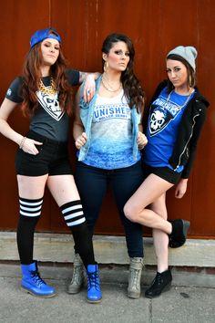 Prairieland Punisher Roller Derby merch photo shoot