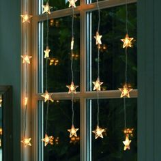 These hanging fairy lights bedroom ideas are perfect for your windows. These hanging fairy lights bedroom ideas are perfect for your windows. Noel Christmas, All Things Christmas, Winter Christmas, Christmas Crafts, Outdoor Christmas, Elegant Christmas, Christmas Window Lights, Beautiful Christmas, Holiday Lights