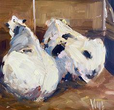 "Daily Paintworks - ""Roger and Mimi"" - Original Fine Art for Sale - © Patty Voje Cow Painting, Cow Art, Fine Art Auctions, Fine Art Gallery, Art Tutorials, Art For Sale, Artist, Instagram"