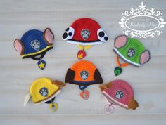 Pata de patrulla inspirado sombrero y por CrochetbyKimberlyMae
