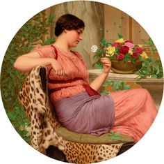 The Time of Roses John William Godward - 1916