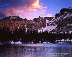 Great Basin National Park, Wheeler Peak and Stella Lake in last light