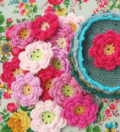 Flower square pattern, nice for vintage pillow