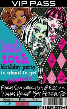 Monsters high party