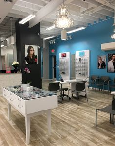 Stylish, sophisticated, beachy optical and optometry office in Virginia Beach, VA. Optometry Office, Virginia Beach, Stylish, Table, Furniture, Home Decor, Decoration Home, Room Decor, Tables