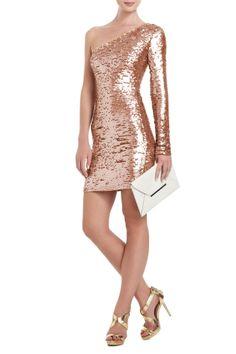 Steffe One-Shoulder Lace Cocktail Dress