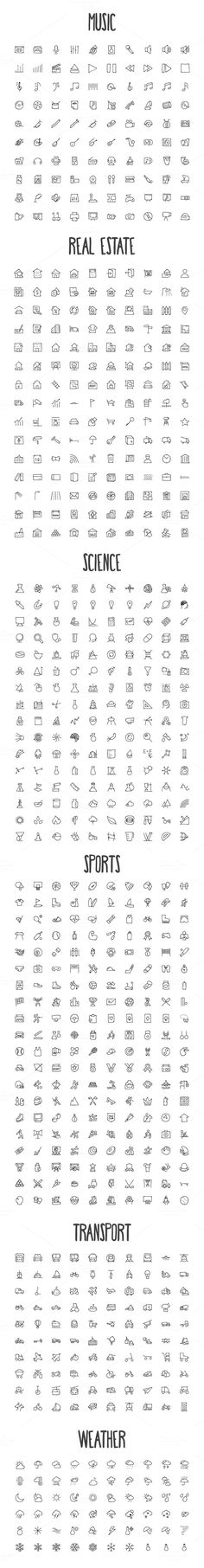 2440 Hand Drawn Doodle Icons Bundle by Creative Stall on Creative Market Tatto Drawings Doodle Drawings, Easy Drawings, Doodle Art, Pencil Drawings, Music Doodle, Doodle Frames, Mini Tattoos, Cute Tattoos, Small Tattoos
