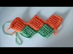 Crochet Tunecino : Union Diagonal - YouTube