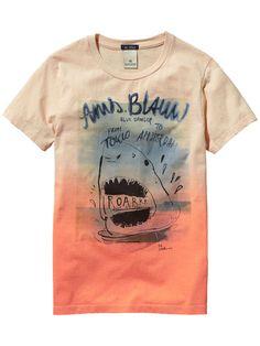 Photo Print T-Shirt - Scotch Custom T Shirt Printing, Printed Shirts, New T Shirt Design, Shirt Designs, Boys T Shirts, Cool Shirts, Scotch Soda, Scotch Shrunk, T Shirt Diy