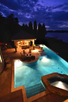 Lake House - mediterranean - pool - charlotte - Artisan Custom Homes