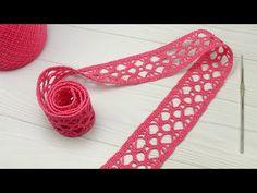 Loom Crochet, Crochet Belt, Crochet Lace Edging, Crochet Videos, Thread Crochet, Loom Knitting, Crochet Crafts, Crochet Stitches, Crochet Designs