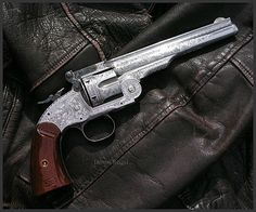 Shofield .45 by Engraver Dennis Reigel - Rgrips.com