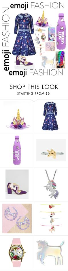 """""""Emoji Fashion: Unicorn"""" by septum-scorpio ❤ liked on Polyvore featuring Rock 'N Rose, Minna Parikka, Artistique, Me & Zena, Forever 21 and WithChic"""