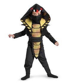 Black Cobra Ninja Dress-Up Set - Kids