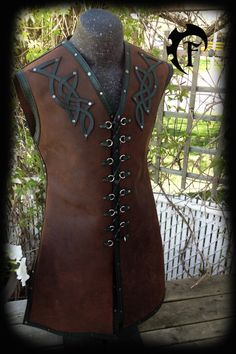 Hey, I found this really awesome Etsy listing at https://www.etsy.com/listing/210062656/leather-celtic-vest-larp-larping-armor