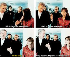 """""""She cares so I don't have to."""" Priceless. ---- where can I find a carer? I need one #doctor #who #capaldi"""