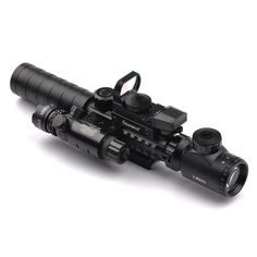 3-9X32EG Riflescope with Long Range Red Dot Laser and Red/Green Dot Holographic Reflex Sight 3 in 1 Combo for Rifle and Airsoft //Price: $71.99 & FREE Shipping //     #hunting #camping #outdoors #pocketdump #knives #knifeporn