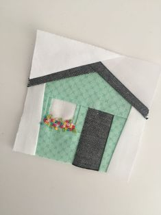 I've added a new tiny foundation paper pieced pattern to my collection! Tiny House was created a little by accident—I was actually making a different. House Quilt Patterns, House Quilt Block, House Quilts, Paper Piecing Patterns, Quilt Block Patterns, Pattern Blocks, Quilt Blocks, Quilt Kits, Applique Patterns