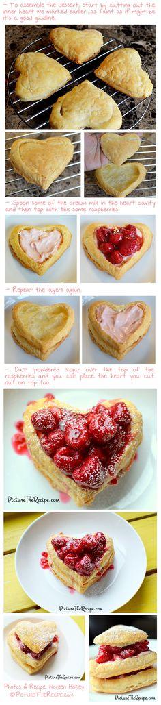 Raspberry Napoleon | Picture the Recipe http://picturetherecipe.com/index.php/recipes/valentines-day-dessert-raspberry-napoleon/