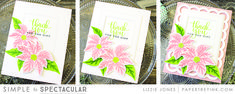 Welcome to this month's Papertrey Ink Simple To Spectacular feature! This month, Melissa, Lexi, and I are showcasing Painted Poinsettias , a. Christmas Wishes, Christmas Cards, Blending Sponge, Winter Flowers, New Leaf, Jingle Bells, Poinsettia, Garland, Card Stock