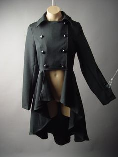 I want this!!!  Black Victorian Era Military Steampunk Tailcoat Cutaway Jacket 189 mv Coat S M L #Unbranded #JacketsCoatsCloaks
