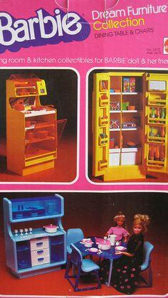 Barbie Dream Furniture Collection, I had the orange Dream Furniture, Barbie Furniture, Dining Furniture, Furniture Ideas, Furniture Makeover, Bedroom Furniture, Furniture Design, Outdoor Furniture, Barbie I