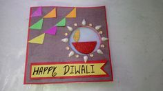 Diy Diwali Cards, Diwali Greeting Cards, Diy Diwali Decorations, Diwali Greetings, Diwali Diy, Happy Diwali, Creative Crafts, Creative Ideas, Fun Crafts