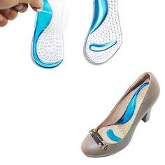 1 par de Silicona Pies Planos Ortesis Arco Soporte de Gel Cojines Antideslizantes Pain Relief Zapatos Plantillas zapatos de Tacón Alto Del Antepié Almohadillas de Gel FM0995