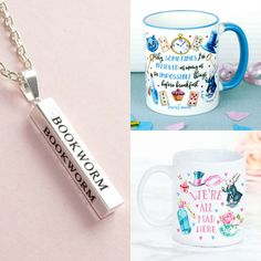 With Love for Books: Alice in Wonderland Mugs & Bookworm Necklace Givea...