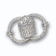 Diamond brooch, Lacloche, Paris, circa 1920