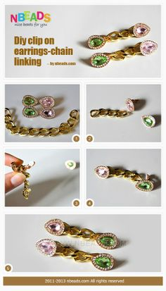 DIY Clip on Earrings - Chain Linking – Nbeads